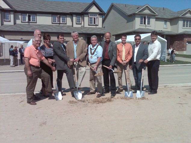 Sod Turning Ceremony at Woodway Trails